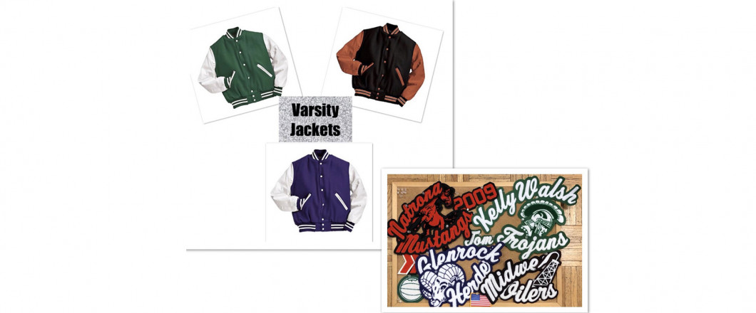 School letter jackets for NCHS, KWHS, GLENROCK SCHOOLS in stock.